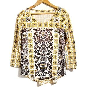 Lucky Brand Paisley Top Size Small